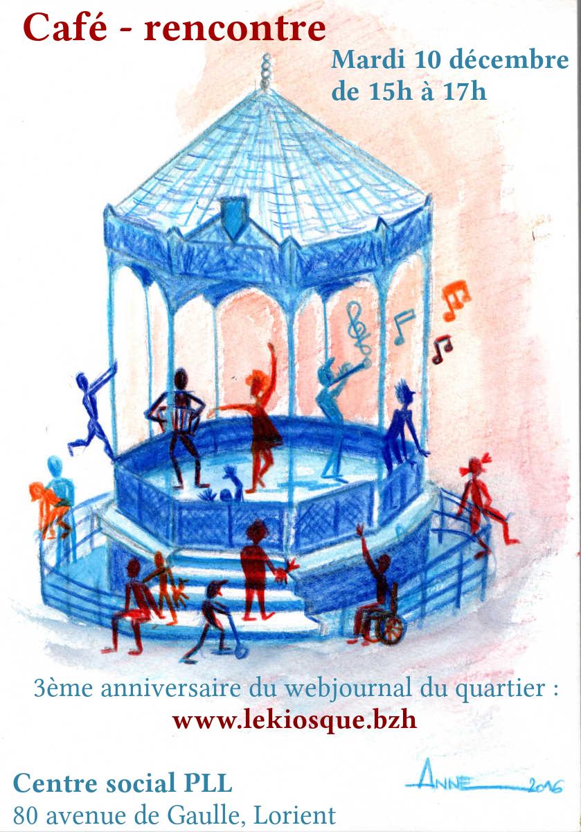 Café-rencontre pour les 3 ans du kiosque.bzh @ Espace multimédia PLL | Lorient | Bretagne | France