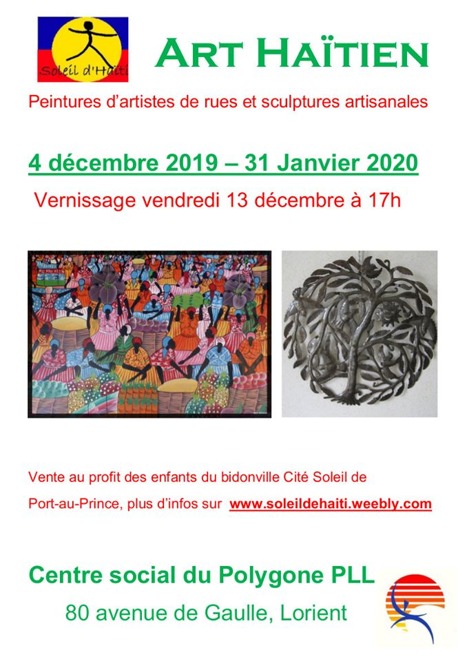Vernissage de l'exposition d'art haïtien @ Centre social Polygone PLL | Lorient | Bretagne | France