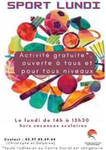 Sport Lundi @ Centre Social du Polygone PLL
