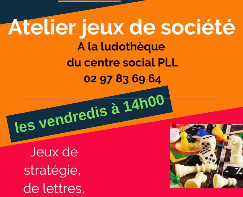 Atelier Jeux de société @ Centre Social Polygone PLL - Ludothèque
