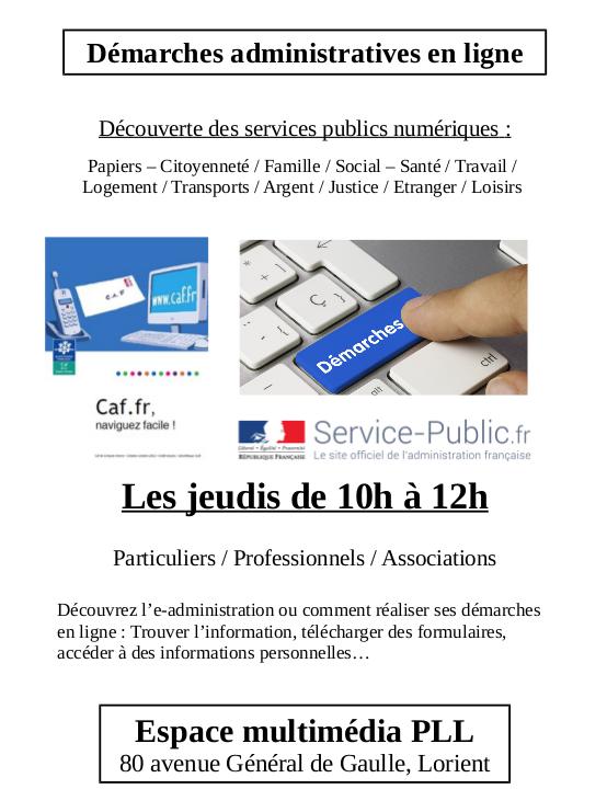 Démarches administratives @ Centre social Polygone PLL   Lorient   Bretagne   France